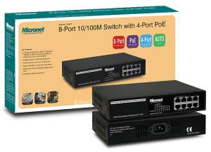 Micronet 8-Port 10 / 100M Switch (4-Port PoE) SP608P