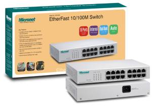 Micronet 16-Port EtherFast 10 / 100M Switch SP616EB