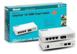 Micronet Smart Switch SP607FB , 6x10 / 100, 1xSC